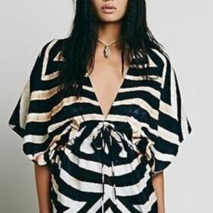 Lotta Stensson/Free people Caftan/dress M/L zebra